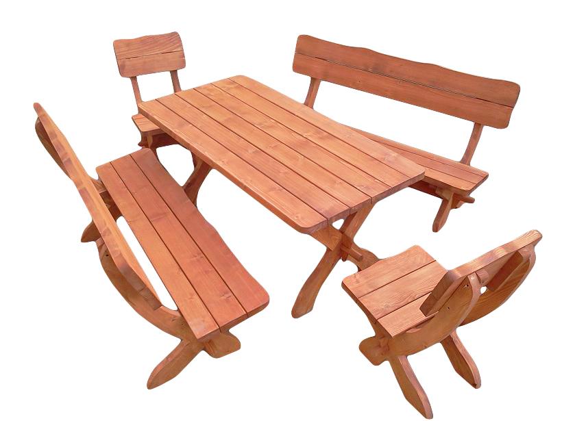 komplet ogrodowy szeroki-świerkowy Dł. stołu oraz ławek 160cm/200cm Dł. siedzenia stołków 48cm Gr. wszystkich elemetów 4cm siedzenia w ławach i krzesłach z wyciętą falą Impregnowany drewnochronem Cena 800zł(160cm)netto(200cm+80zł)